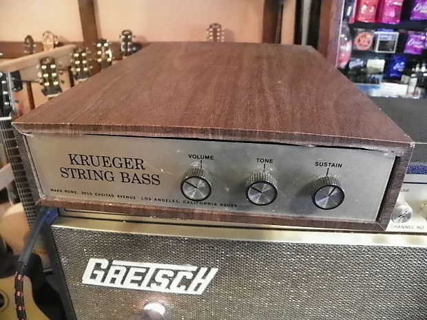 Vintage Krueger String Bass Pedal System Maas-Row 12 Pedals