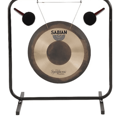 """Sabian 26"""" Symphonic Gong Concert Band & Orchestra 52602 + 61005 Stand & Mallets   Authorized Dealer"""