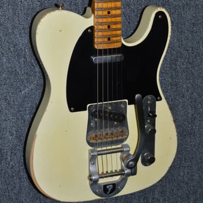 2005 Fender Yuriy Shishkov Master Built 1950s Relic Telecaster Custom Shop - Aged Olympic White for sale