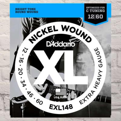 D'Addario EXL148 Extra Heavy Drop C Nickel Wound Electric Electric Guitar Strings 12-60