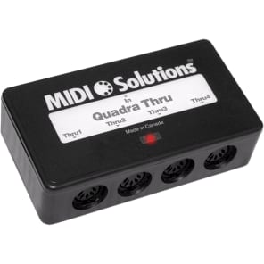MIDI Solutions Quadra Thru 4 Output MIDI Thru Box