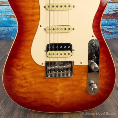 St Blues: Bluescaster IV, Quilt Top Cherry Burst for sale