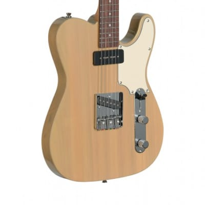 Stagg Vintage Custom Tele Style Electric Guitar Transparent Yellow