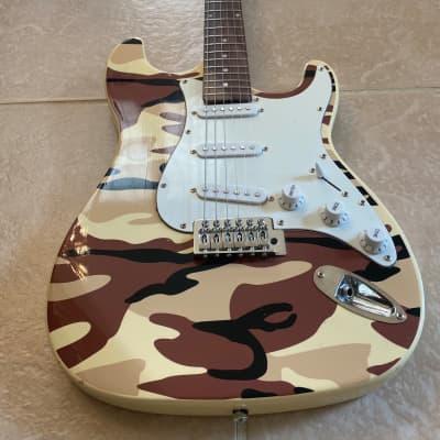 Mahar Stratocaster Electric Guitar  Desert Camo Finish for sale