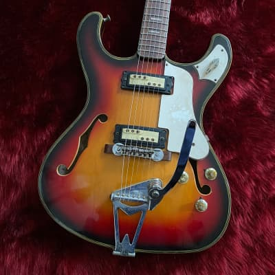 """c.1967- Firstman/Liberty SC-2/SE-26V MIJ Vintage Hollow Guitar  """"Sunburst"""" for sale"""