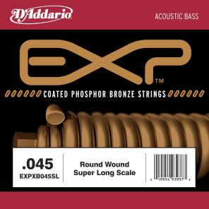 D'Addario EXPXB045SL EXP Coated Nickel Round Wound Bass Guitar Single String .045