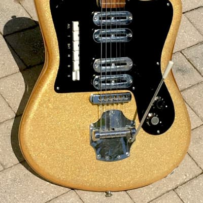 Noble Grand Deluxe Sparkle Guitar 1964 Gold Sparkle for sale