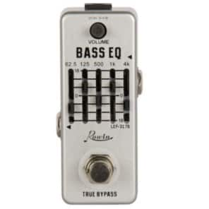 Rowin LEF-317B Bass EQ Smallest 5 band graphic EQ with MASTER Volume Guitar Effect Pedal True Bypass