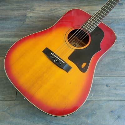 1970's Greco Japan F-180 Acoustic Guitar (Sunburst) for sale
