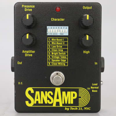 1993 Tech 21 Amp Simulator Pedal Original Classic w/ Box & Adapter #38932
