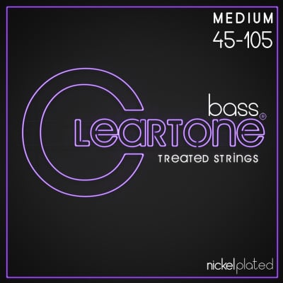 Cleartone Nickel Plated Bass Treated Strings 45-105