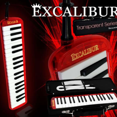 Excalibur 37 NOTE PRO TRANSPARENT MELODICA Transparent Red
