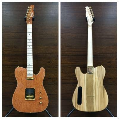 Haze 1930-970 Solid Electric Guitar,SH,Light-Brown Stripes Wave+Free Bag for sale