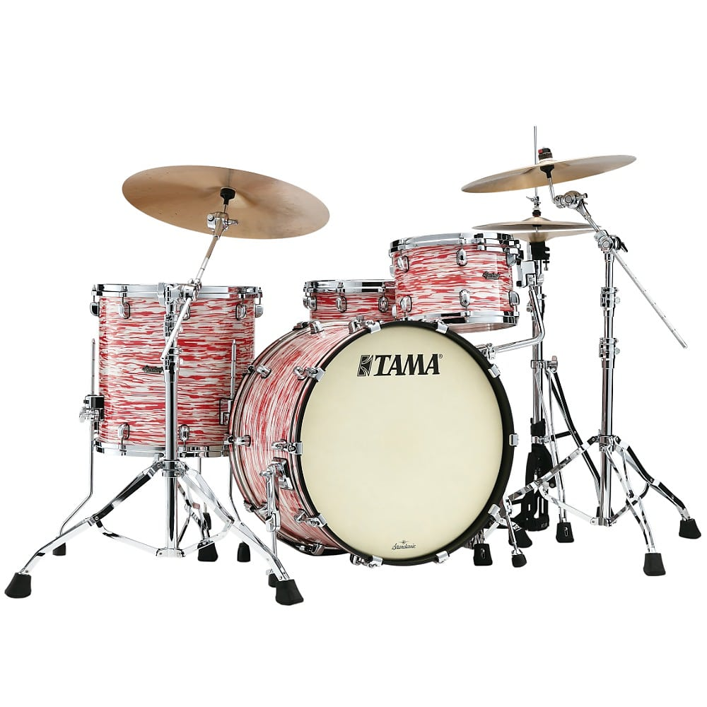 Tama Starclassic Maple 12 16 22 3pc Drum Kit Red White Oyster Pre