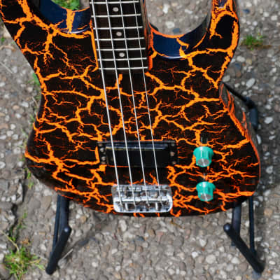 Hohner Marlin by Hohner SL200B orange black crackle short scale bass for sale