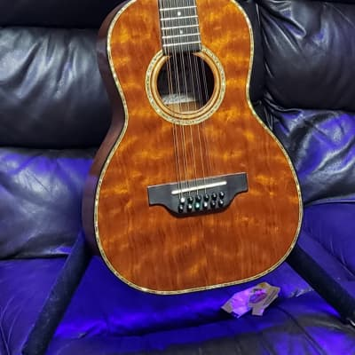 Custom BTO McElroy Solid Quilted Mahogany Size 5 12 String for sale