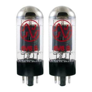 New Plate Current Matched Pair (2) JJ 6V6 Vacuum Tubes