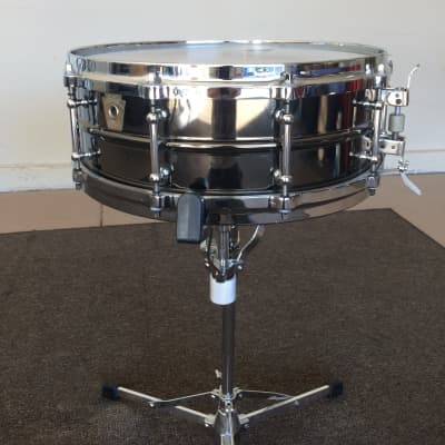 """Ludwig LB416TM Black Beauty 5x14"""" Brass Snare Drum with Tube Lugs and P-86 Millennium Strainer"""