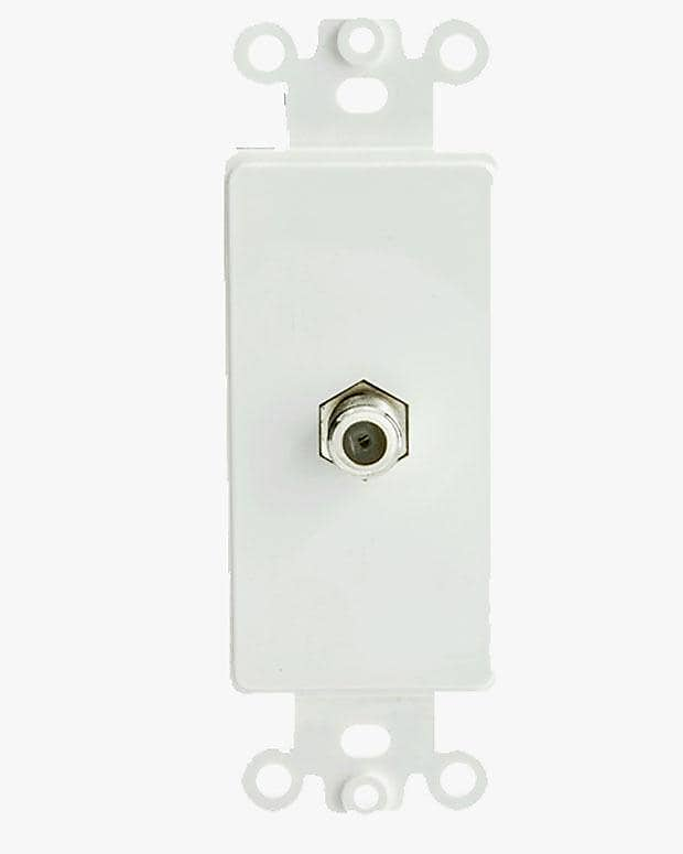 Stupendous Decora Wall Plate Insert White F Connector Coaxial Coupler Reverb Wiring 101 Swasaxxcnl