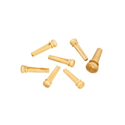 D'Addario Wood Bridge Pins - Boxwood