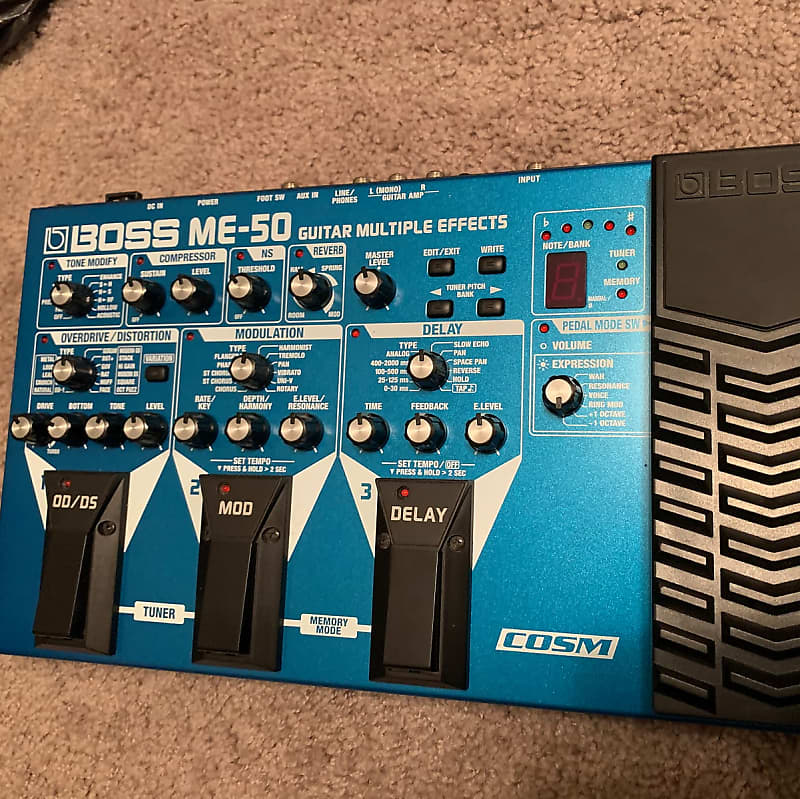 boss me 50 guitar multiple effects electric workshop reverb. Black Bedroom Furniture Sets. Home Design Ideas