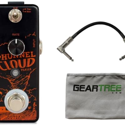 Outlaw Effects Phunnel Cloud Phaser Pedal w/ Patch Cable and Cloth