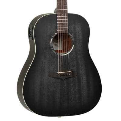 Tanglewood Blackbird TWBB-SDE Slope-Shoulder Dreadnought Electro Acoustic (Smokestack Black Satin) for sale