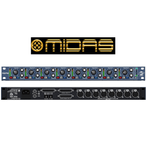 Midas XL48 8-Ch 96kHz 24-bit Mic Preamp