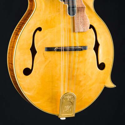 Hinde F Custom Master Figured Koa and Bearclaw Adirondack Spruce Mandolin NEW for sale