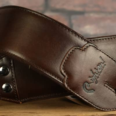 Right On! Straps Leathercraft Vintage Brown Strap w/ FREE SAME DAY SHIPPING
