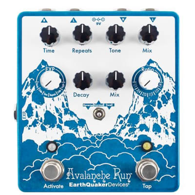 EarthQuaker Devices Avalanche Run Stereo Reverb & Delay with Tap Tempo