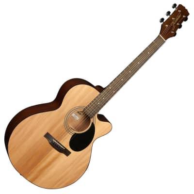 Jasmine S34C Grand Orchestra Spruce Top Nato Neck NEX 6-String Acoustic Guitar for sale