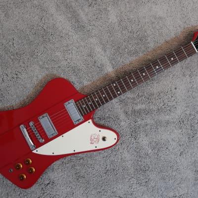 Vintage 1990s Era Epiphone Firebird '63 Reissue Electric Guitar Cherry Chrome HW Korea