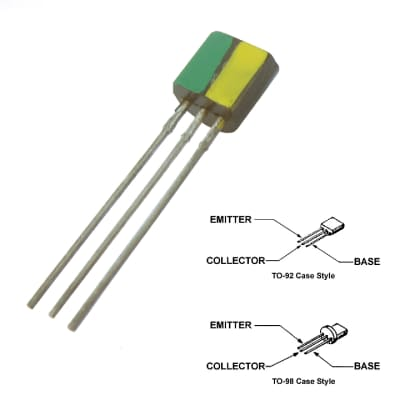 Green/Yellow or Green Stripe S-NPN Transistor for Various US Thomas Vox Amplifiers - #86-5044-2