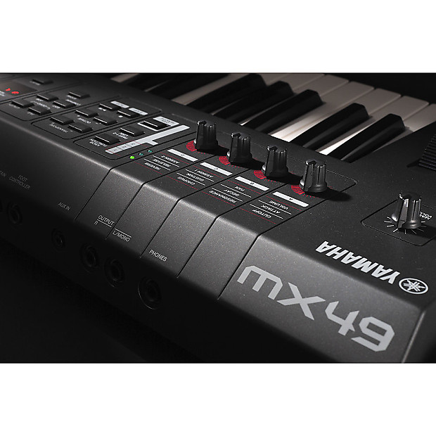 Yamaha mx49 49 key usb midi controller keyboard synth for Yamaha midi controller keyboard