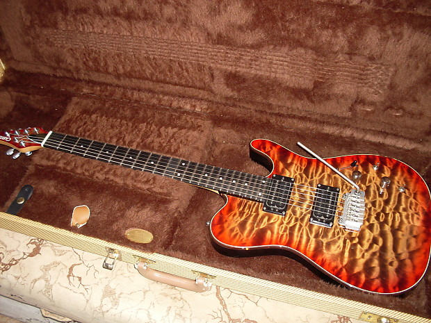 Carvin usa custom shop tl t quilted maple cherryburst