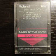 Roland Music Style Data Card 50s and 60s TN-SC1-02
