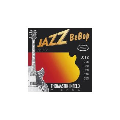 Thomastik-Infeld BB112 Jazz Guitar Strings: Jazz Bebop Series 6 String Set - Pure Nickel Round Wound