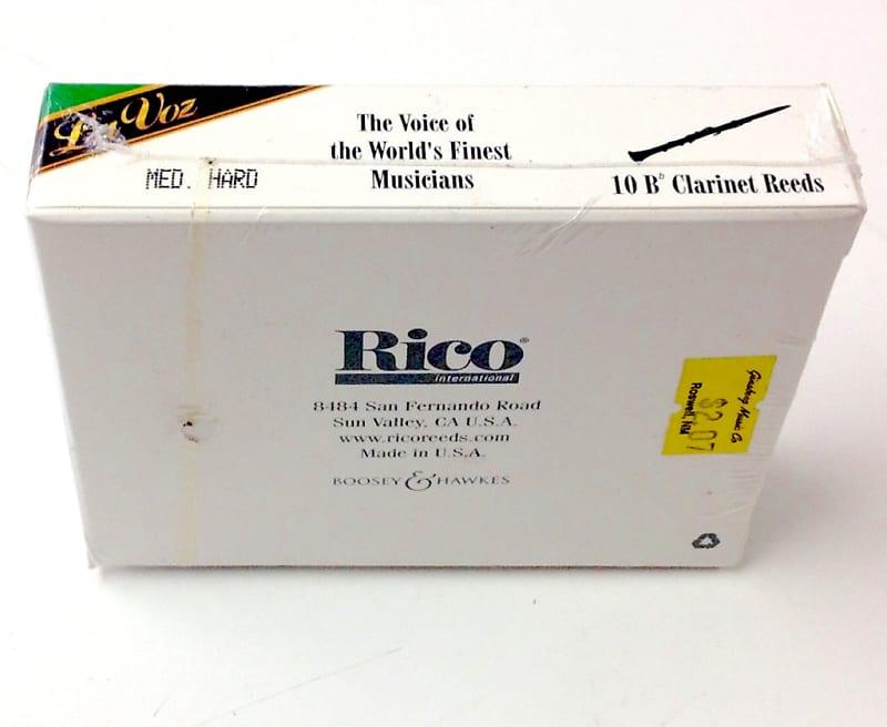 New In Box LaVoz Bb Clarinet Reeds Medium Hard  Box of 10