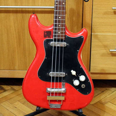Vintage shortscale bass Althof 500B 1960s  / Red snakeskin vinyl for sale