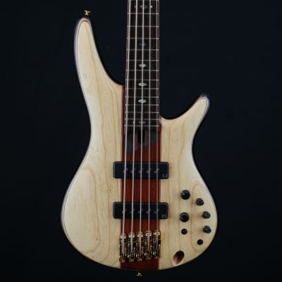 Ibanez SR Premium 5 string Electric Bass - Natural Flat for sale