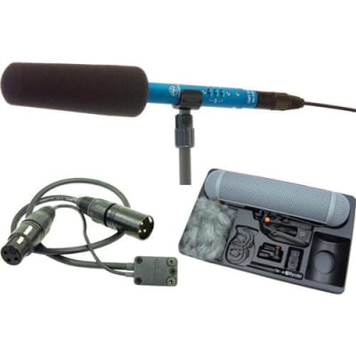 Schoeps CMIT5U Shotgun Microphone Set for Boompole Mounting, Includes Rycote Full Windscreen Kit 4, Rycote Connbox, W140 Foam Windscreen, SG20 Stand C