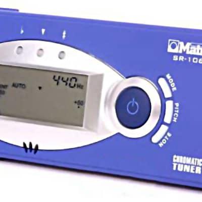 MATRIX SR-1060 Digital Chromatic TUNER for GUITAR instrument - NEW - Blue