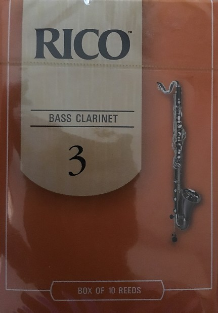 Strength 3.5 Rico Bass Clarinet Reeds 10-pack