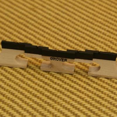 GB-76 Grover Tune-Kraft 5-String Maple Ebony Top Banjo Bridge 1/2