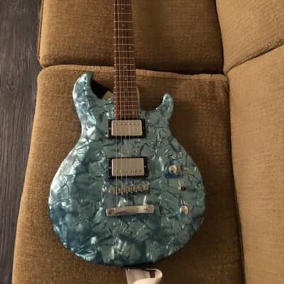 Pearl River Sparkle Blue Electric Guitar for sale