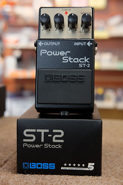 boss st 2 power stack distortion guitar effect pedal new reverb. Black Bedroom Furniture Sets. Home Design Ideas