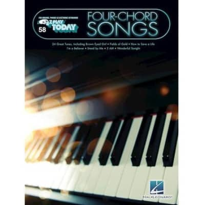 Four-Chord Songs: 24 Great Tunes - E-Z Play Today Volume 58