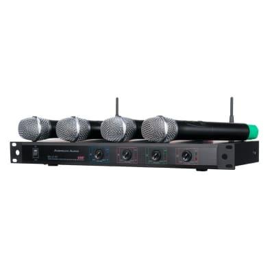 American Audio WU-419V 4-Channel UHF Handheld Wireless Mic System