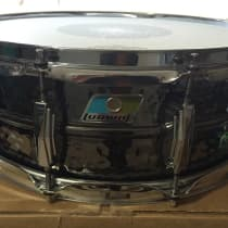 "Ludwig 5x14"" Black Beauty Hammered Brass Snare Drum 2010s image"